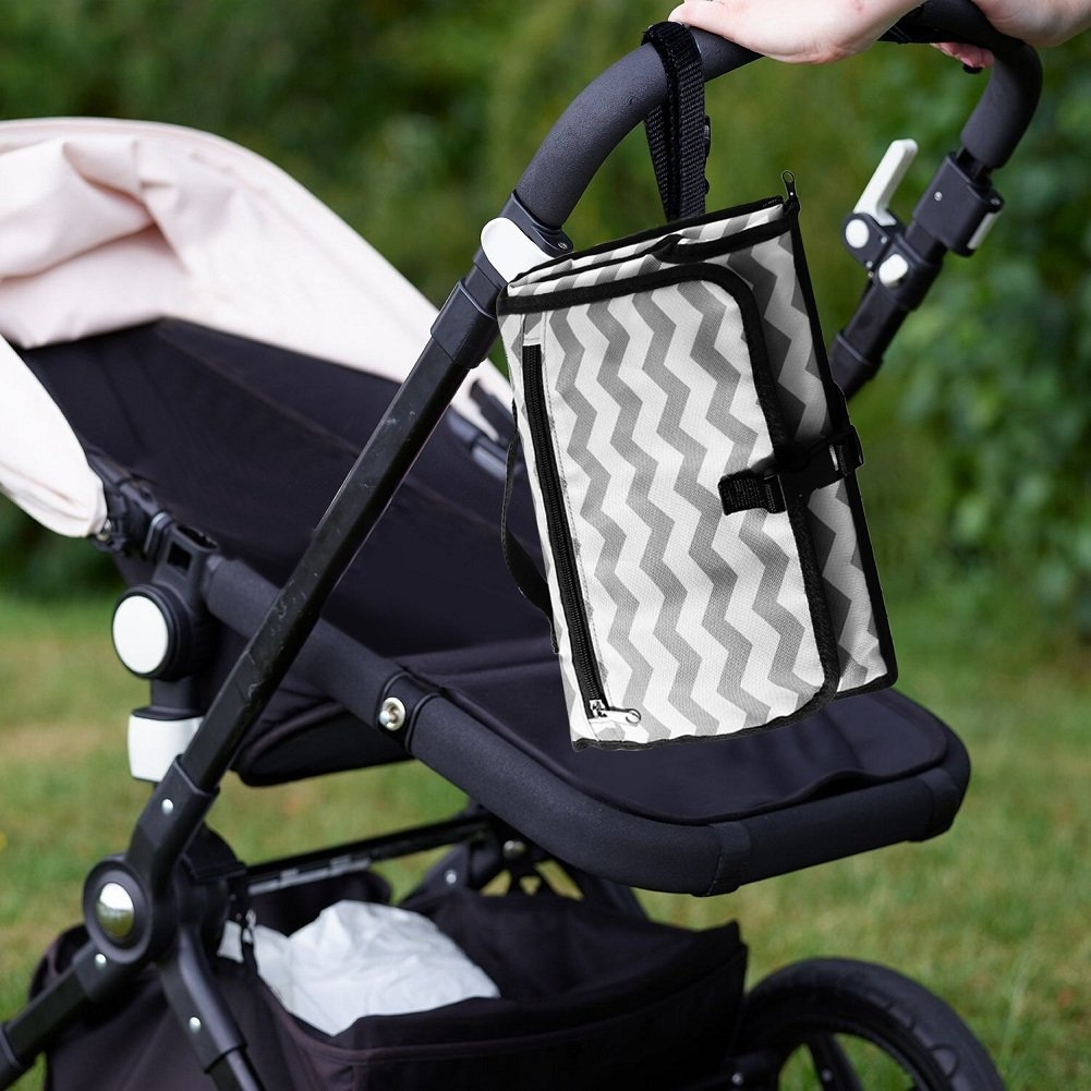 iZiv Baby Changing Pad Baby Diaper Changing Station Folding Travel Changing Mat Portable Changing Bag Waterproof Changing Station Lightweight Change Bag Kit with Large Capacity for Storaging
