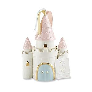 Baby Aspen Simply Enchanted Ceramic Porcelain Princess Castle Piggy Bank Room Decor & Gift, Multicolored
