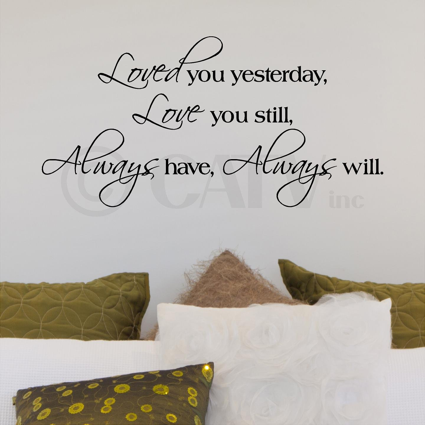 Amazon loved you yesterday love you still always have amazon loved you yesterday love you still always have always will vinyl lettering wall decal sticker 125h x 25l black home kitchen amipublicfo Choice Image