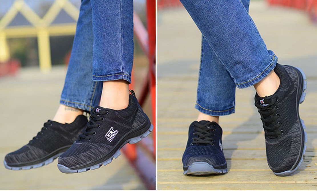 LIDUN Unisex Breathable Steel Toe Shoes Men Steel Toe Boots Womem Steel Toe Sneakers (US Men 9, LD01) by LIDUN (Image #5)