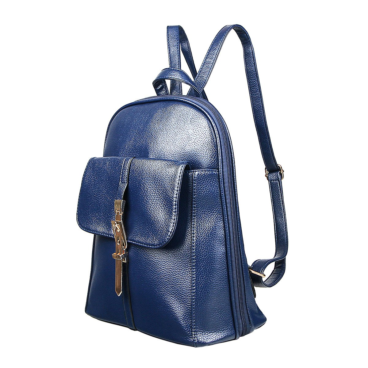 xhorizon TM FL1 Leather Mini School Bag Travel Backpack Rucksack Shoulder Bag Satchel (Navy) by xhorizon (Image #2)