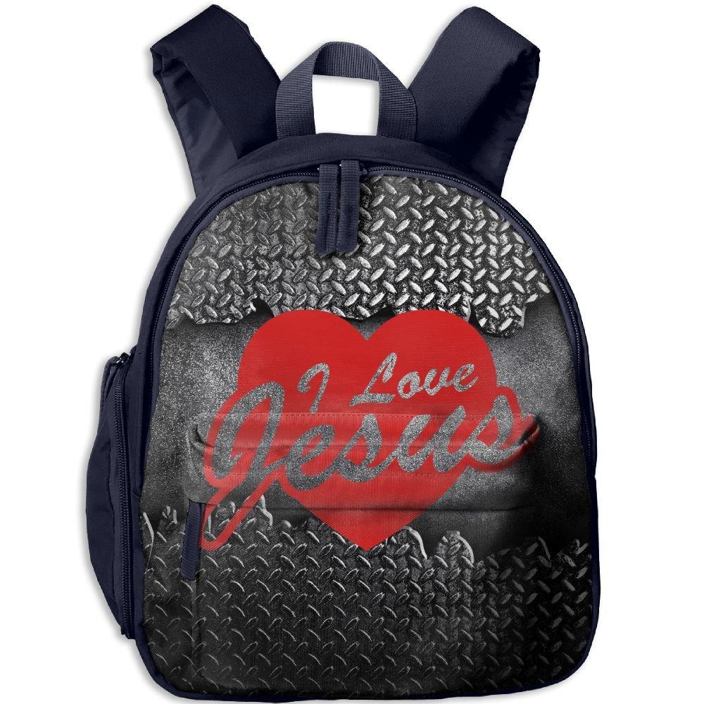 Student School Bags Backpack Daypack I Love Jesus Super Bookbag Break For Kids Navy