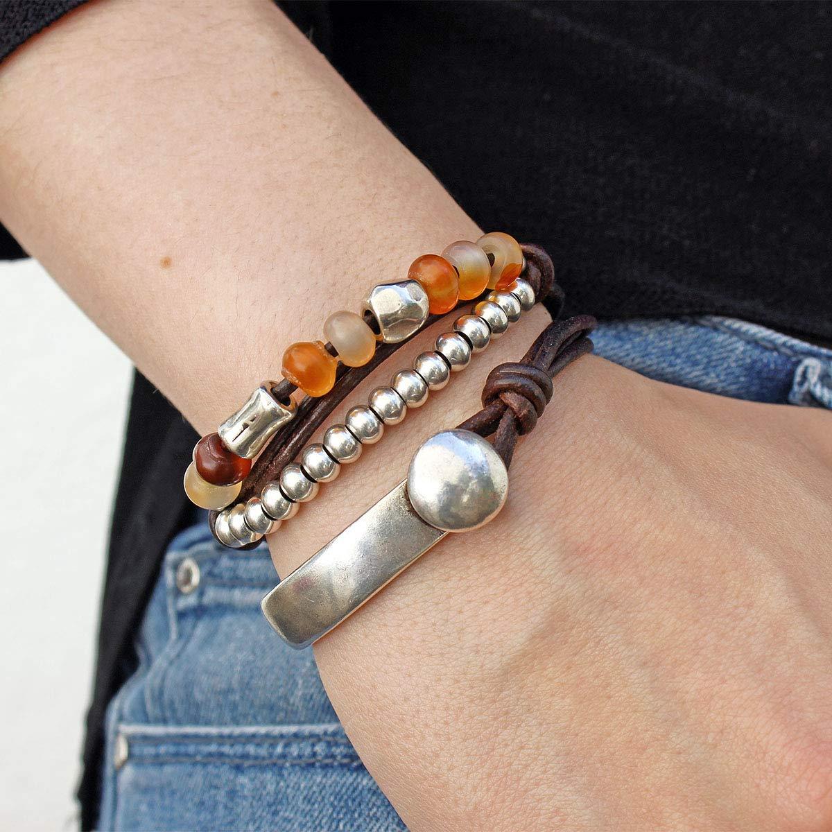 7 pouces cornaline Bracelet de pierres pr/écieuses semi-pr/écieuses Naturel AAA cornaline Bracelet extensible Bracelet pour les fille Bracelet unisexe 14mm Ovale Facettes Perles