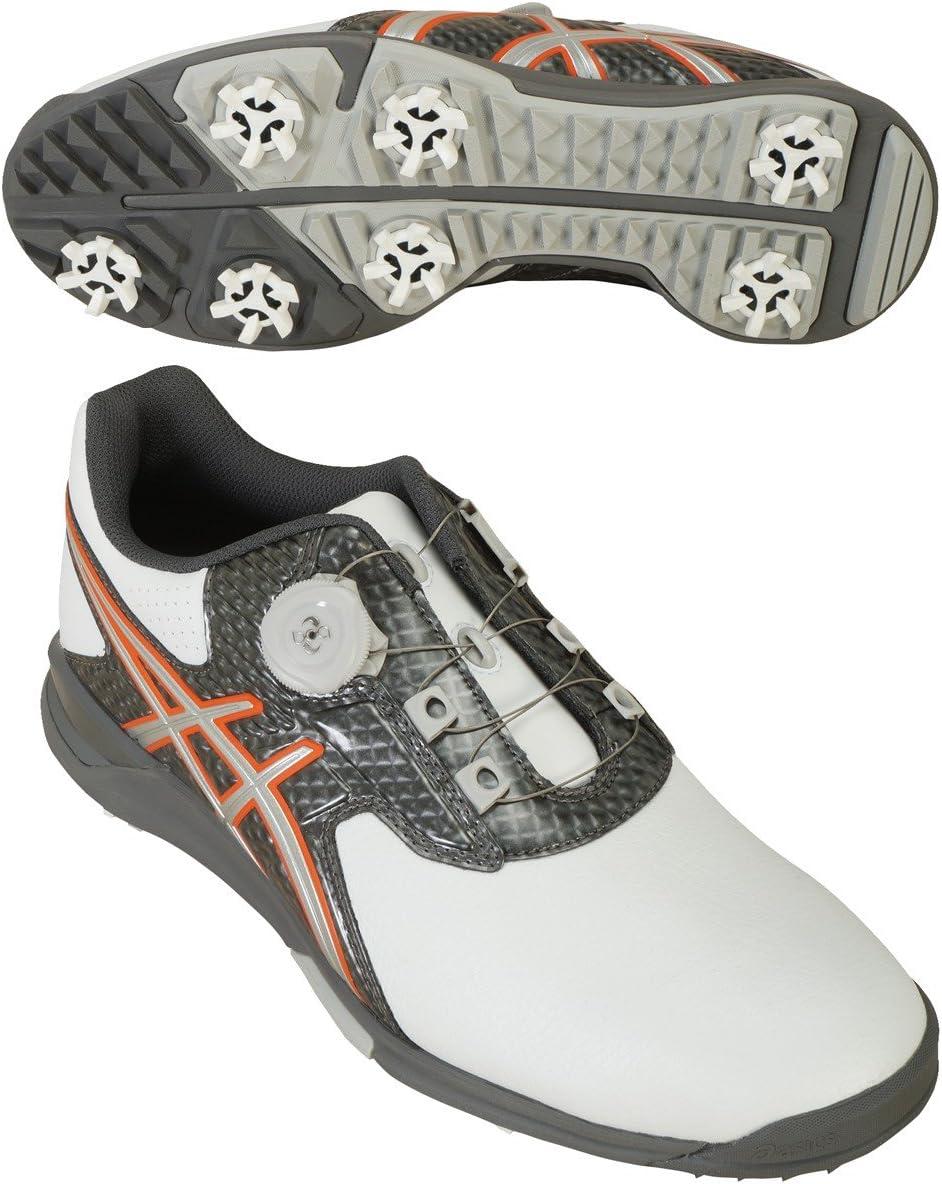 asics(アシックス) ゲルエース ツアー2 ボア ゴルフシューズ TGN913 ホワイト/シルバー 27.5cm