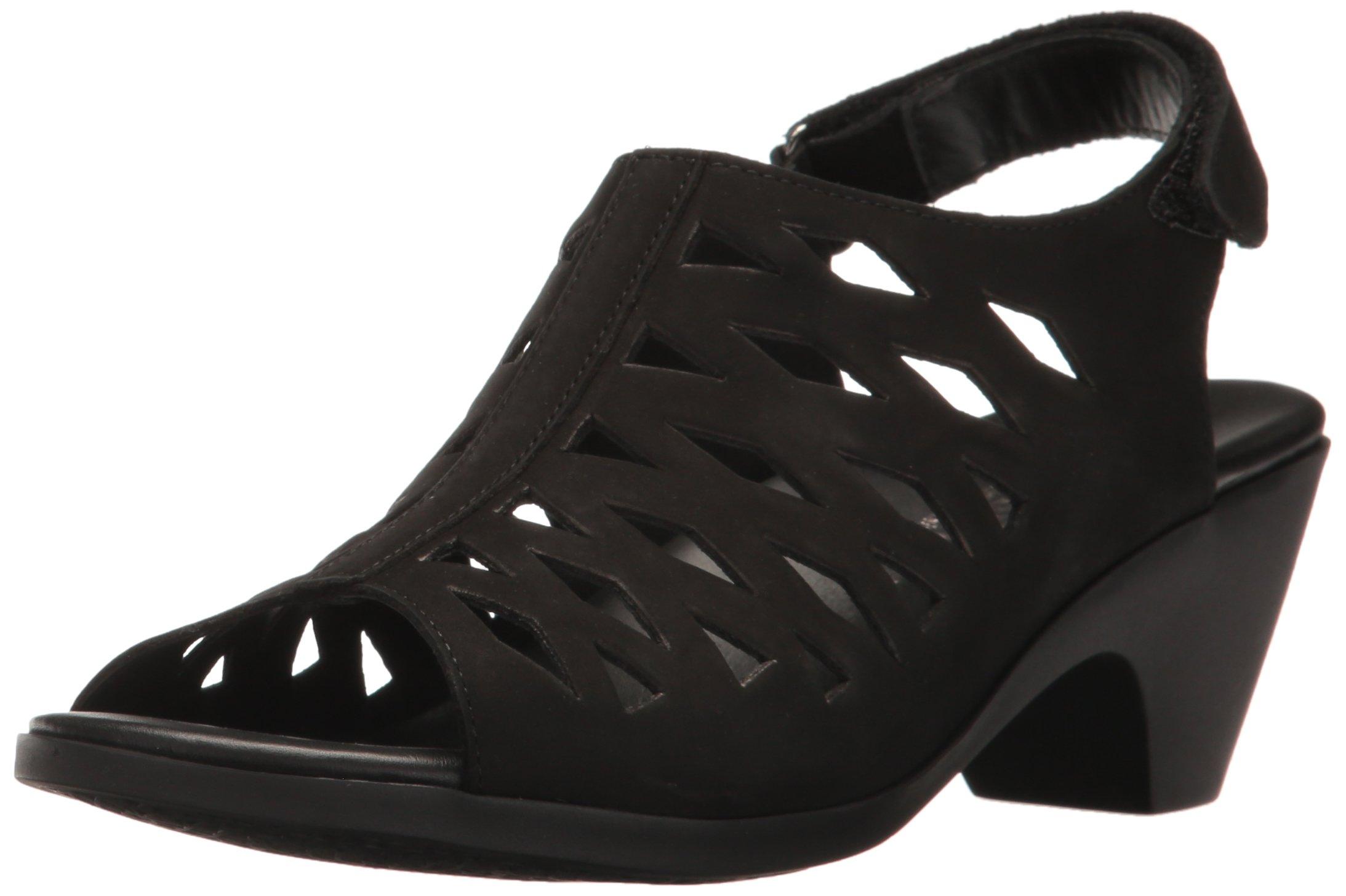 Mephisto Women's Candice Dress Sandal, Black Bucksoft, 7 M US