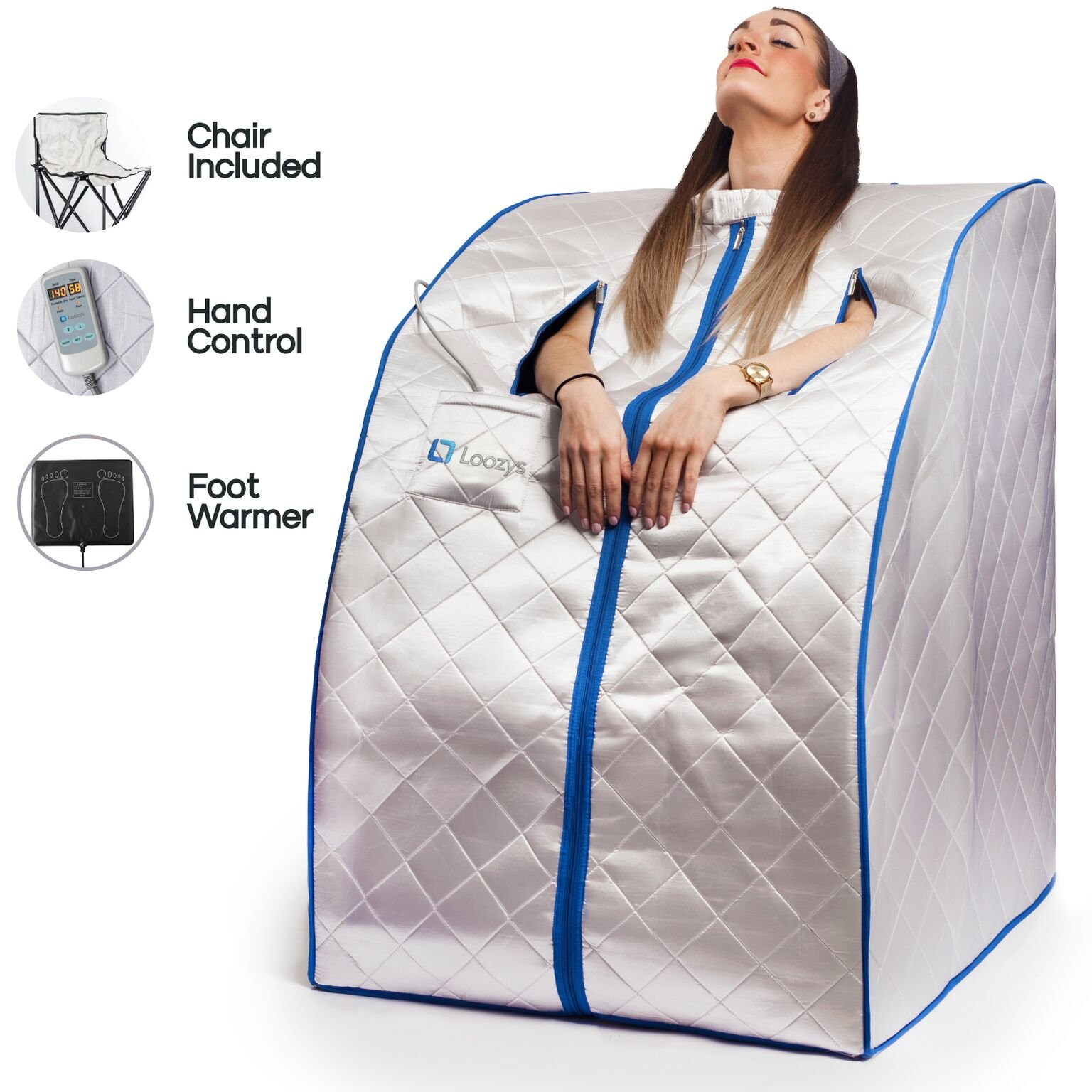 Loozys Rejuvenator Portable Infrared Home Sauna Spa   One Person Sauna for Detox & Weight Loss