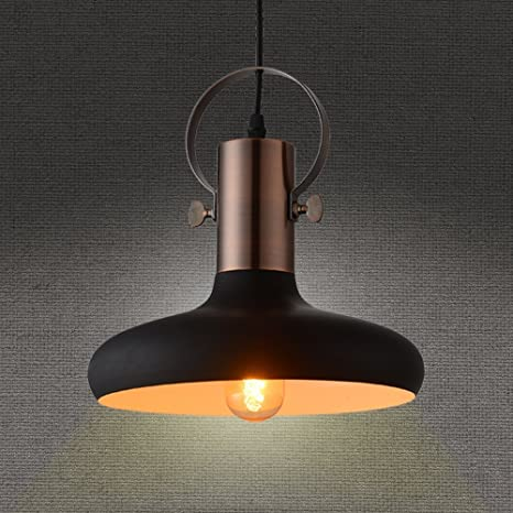 Amazon mstar retro industrial pendant light black metal mstar retro industrial pendant light black metal antique pendant ceiling light shade for bar cafe dinning mozeypictures Gallery