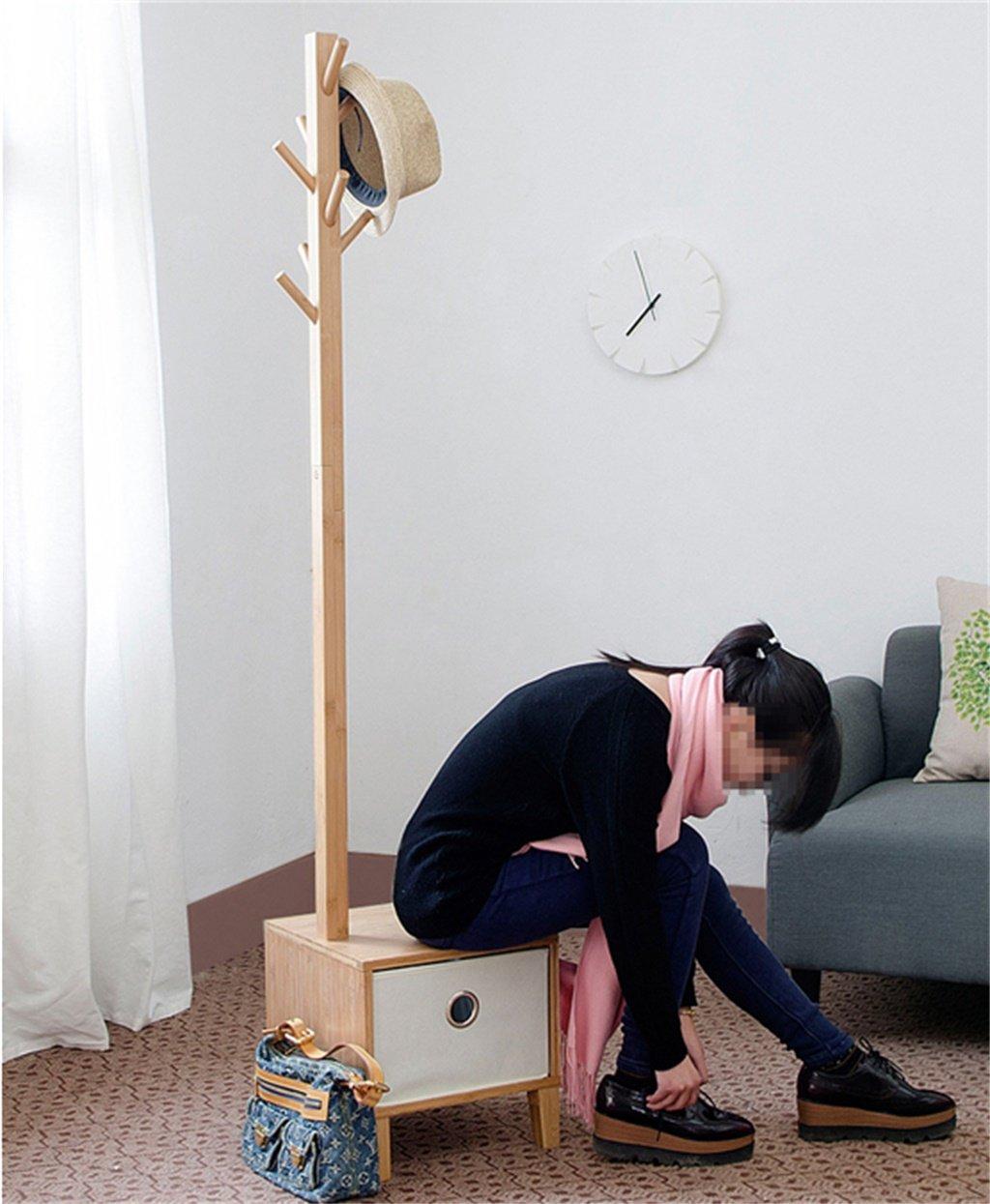 Amazon.com: XF - Perchero de madera maciza multifunción ...