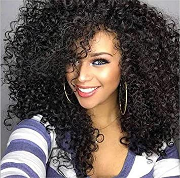 for African women american black curly wigs