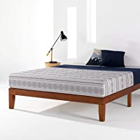 Mellow Naturalista Classic - 12 Inch Solid Wood Platform Bed with Wooden Slats, No Box Spring Needed, Easy Assembly, Twin,Cherry