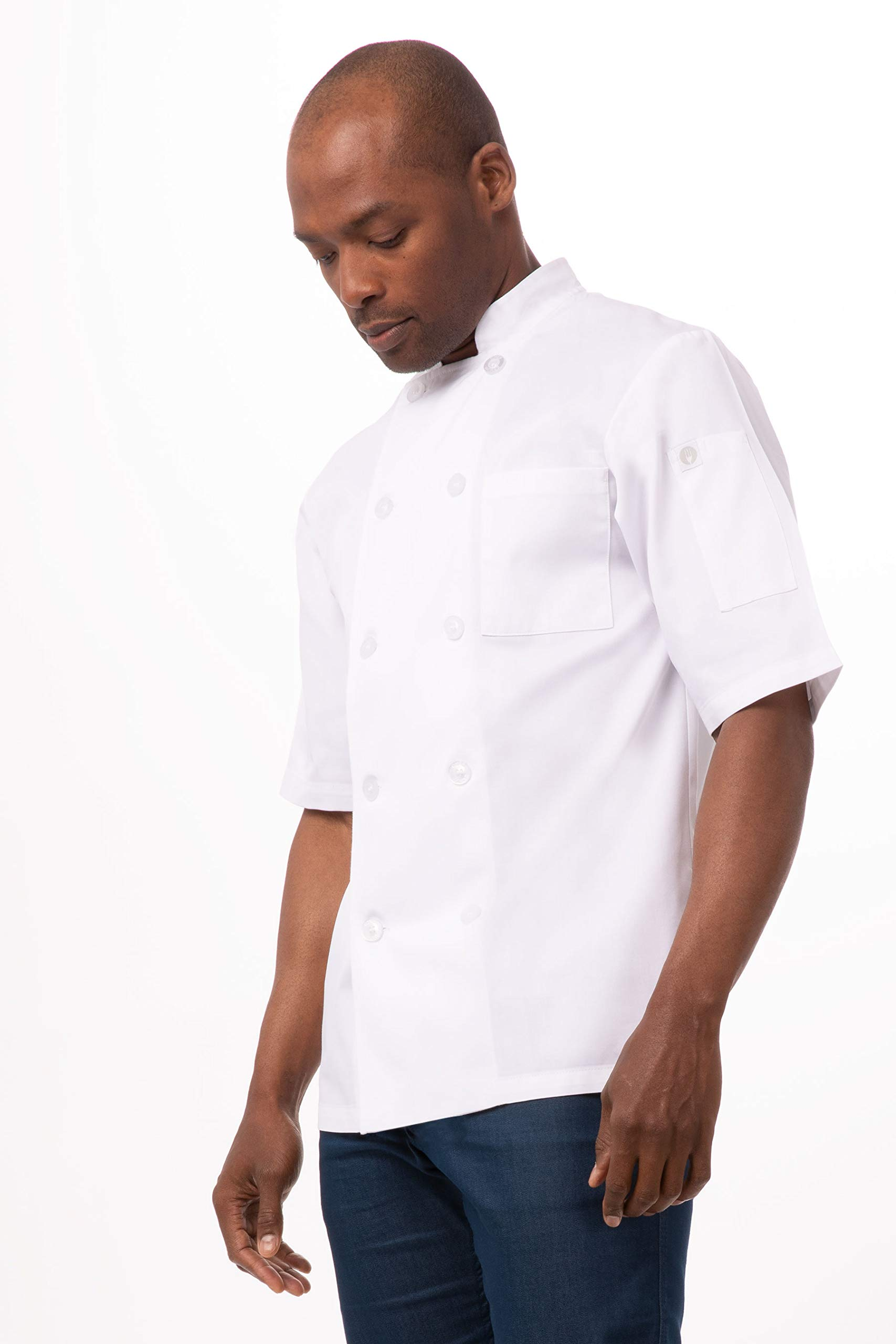 Chef Works Unisex Volnay Chef Coat, White Large by Chef Works