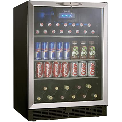 Ft. Silhouette Beverage Center   Black/Stainless