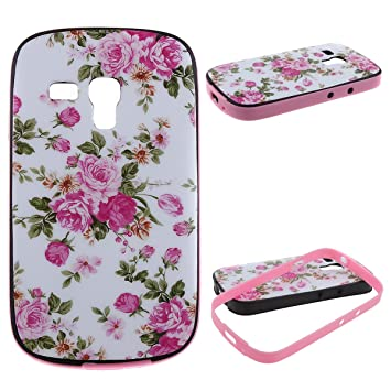 Amazon.com: Galaxy S3 Mini Funda, Uzzo 2 en 1 – Carcasa ...