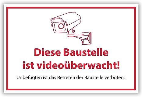 Carteles para videovigilancia, tamaño DIN A1, 84 x 59 cm, de ...