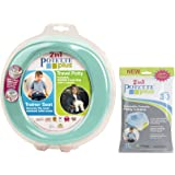 Kalencom 2 in 1 Potette Plus Portable Potty Training + Travel Toilet Seat with 30 Potty Liners Bundle (Teal)