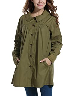 Beyove Womens Rain Jacekt Lightweight Waterproof Outdoor Hooded Raincoat ccbf54bcf849