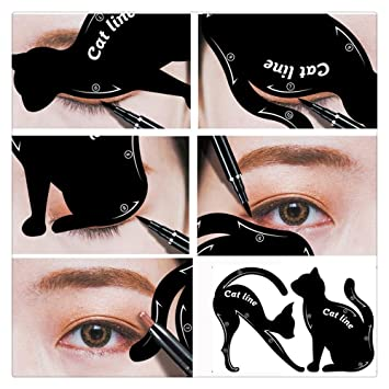Amazoncom FTXJ Pcs Cat Eyeliner Eyeshadow Stencils Template - Eyeshadow template