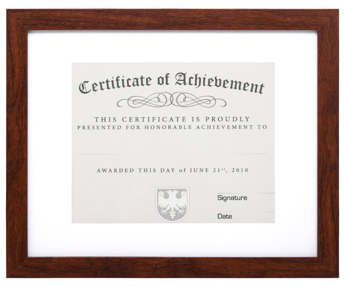 MeiC 11x14 Wall Mounting Certificate Document Photo Frames 8.5x11 with Mat 11x14 without Mat Brown