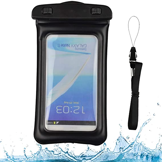 uk availability 73225 007ff Amazon.com: VG Case Black Floating Waterproof Cell Phone Case Dry ...
