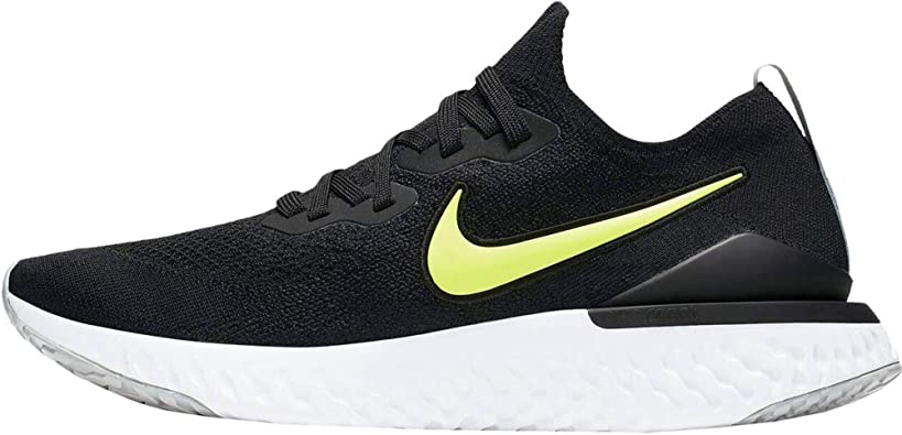 Nike Epic React Flyknit 2, Zapatillas de Atletismo para Hombre, Multicolor (Black/Volt/Wolf Grey/White 000), 45.5 EU: Amazon.es: Zapatos y complementos