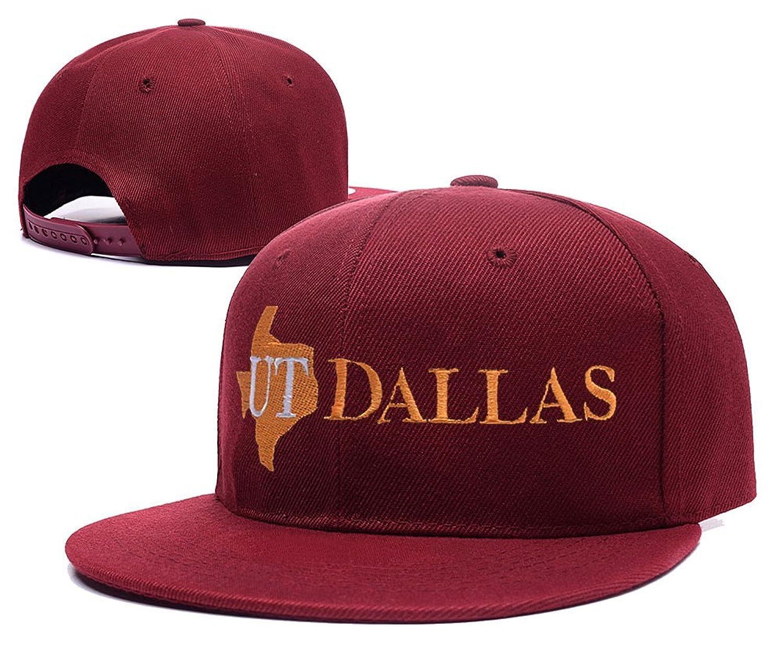DEBANG The University of Texas at Dallas Logo Adjustable Snapback Baseball Leisure Caps Embroidery Visor Beanie Hats