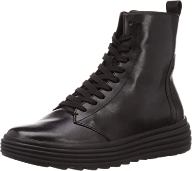 Maravilla Sastre prioridad  Amazon.com | Geox Women's Leather Phaolae Boots Black | Ankle & Bootie