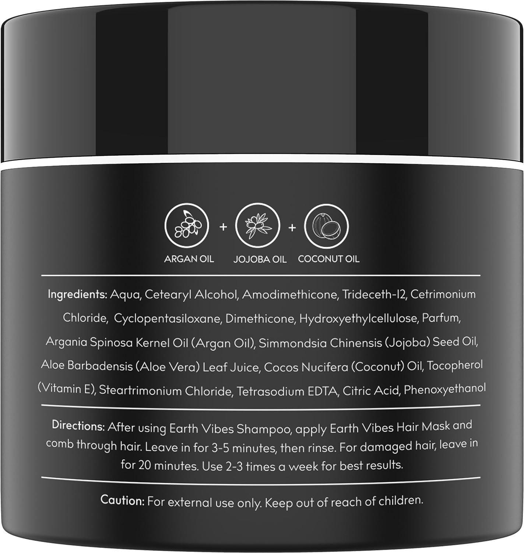 Amazon Com Earth Vibes Argan Oil Hair Mask 8 Oz 226g Leave In