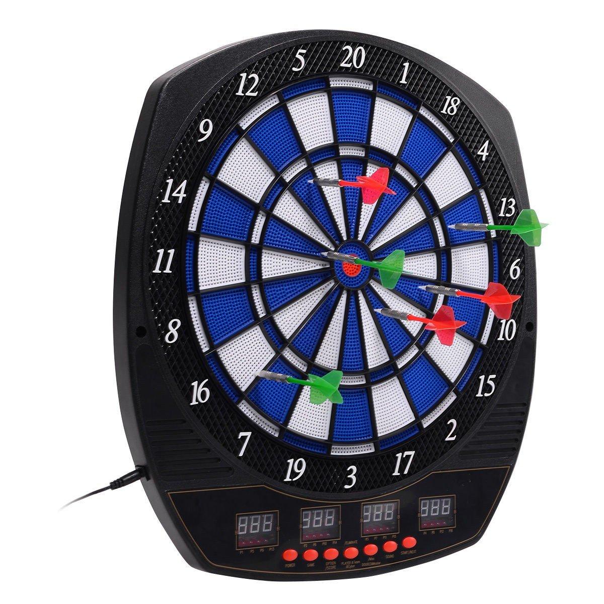 CWY LCD Display Arachnid Electronic Dart Board Set w/6 Darts
