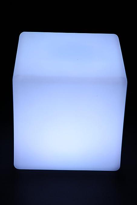 20cm point-garden LED Leuchtw/ürfel mit Farbwechsel f/ür Innen und Au/ßen