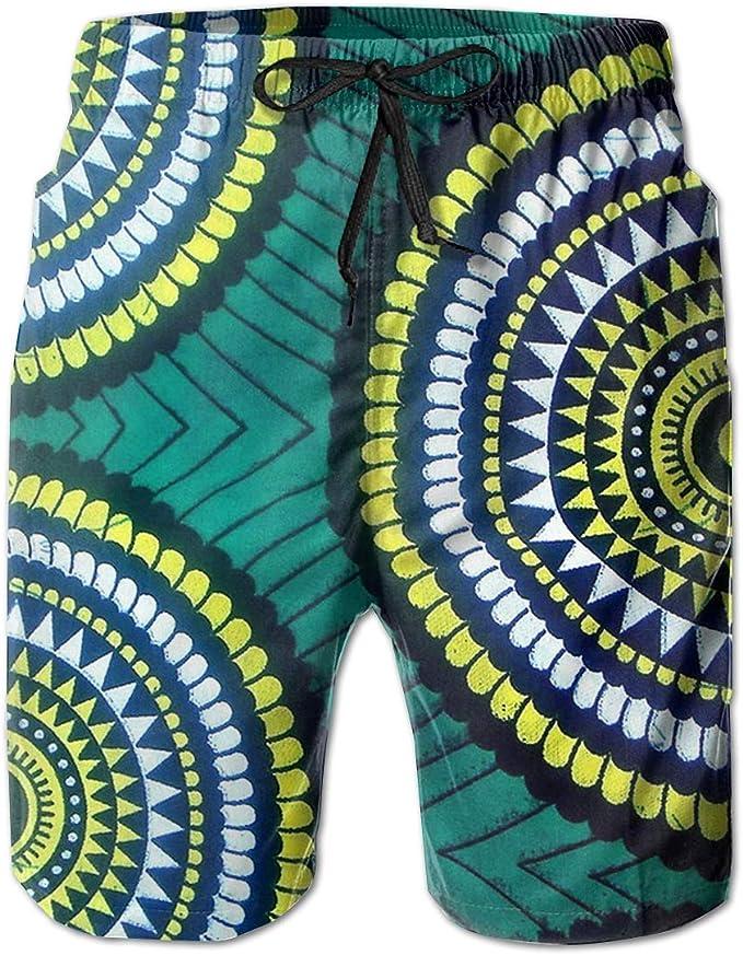 JIAU HUA British Pattern Mens Quick Dry Swim Trunks Casual Beach Shorts with Lining Skateboard Shorts