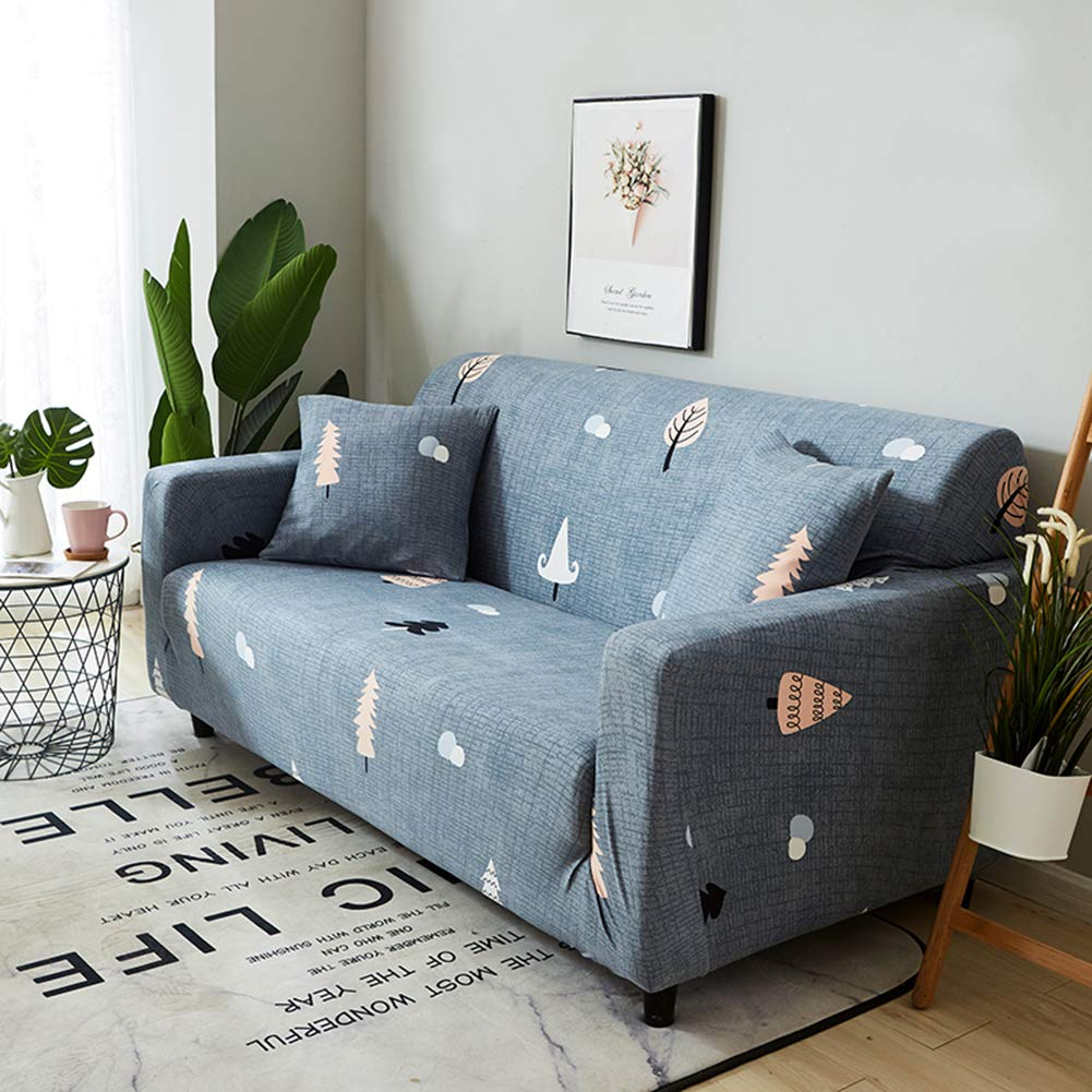 TOPCHANCES Stretch Sofa Cover 1 2 3 4 Seater Sofa SlipCover Elastic Chair Loveseat Couch Settee Sofa Covers Furniture Protector (Feather, 1 Seater)
