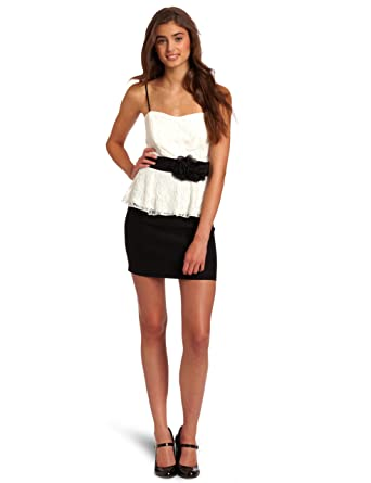 e5ce987a5ba3d Amazon.com: Trixxi Junior's Lace Millenium Dress: Clothing