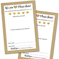 50 Suggestion Box Cards - Rustic Comment Cards for Restaurant, Bed & Breakfast and Hotel Supplies - Premium Customer…