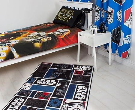 Star Wars Tapis pour Enfant Tapis de Jeu pour Chambre denfant 95 x 133 cm