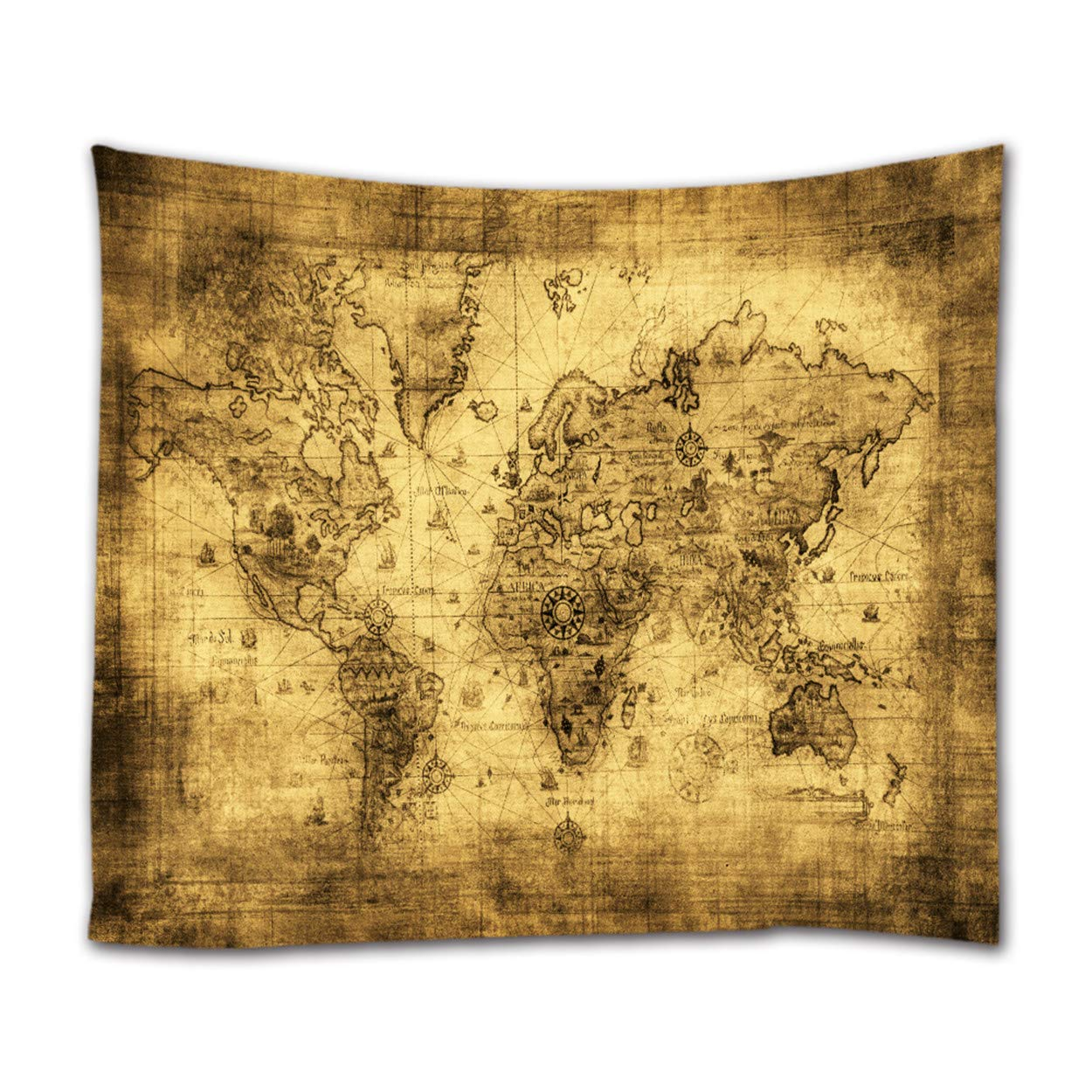 Amazon.com: Ihome888 World Map Tapestry Wall Hanging, Light Weight ...