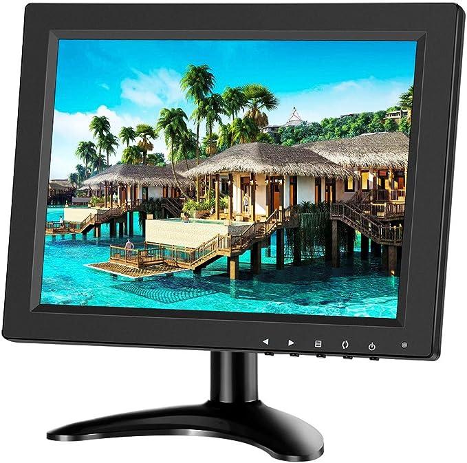 Eyoyo - Monitor de 10 pulgadas IPS LCD HD HDMI 4: 3 pantalla portátil con entrada BNC HDMI VGA AV 1024x768 para PC Raspberry Pi Gaming: Amazon.es: Electrónica