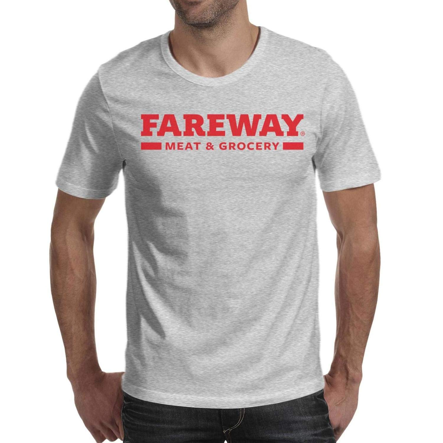 Fareway Launches New Logos Men Short Sleeve T Shirts 100% Cotton Funny Skin-Friendly T-Shirt by TUOUOUTR