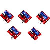 ARCELI 5 Piezas Módulo de Controlador Mos IRF520 del botón Mosfet Superior de 0-24 V para Arduino MCU Arm Raspberry pi