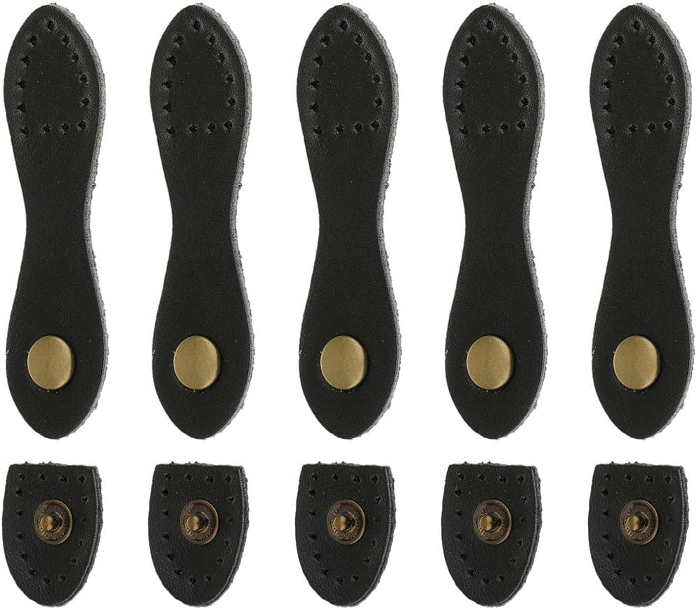 Brown sharprepublic 5 Set Magnetic Snap Buckles Bag Making Fastener Replacement Sewing Buttons Handbag Leather Craft