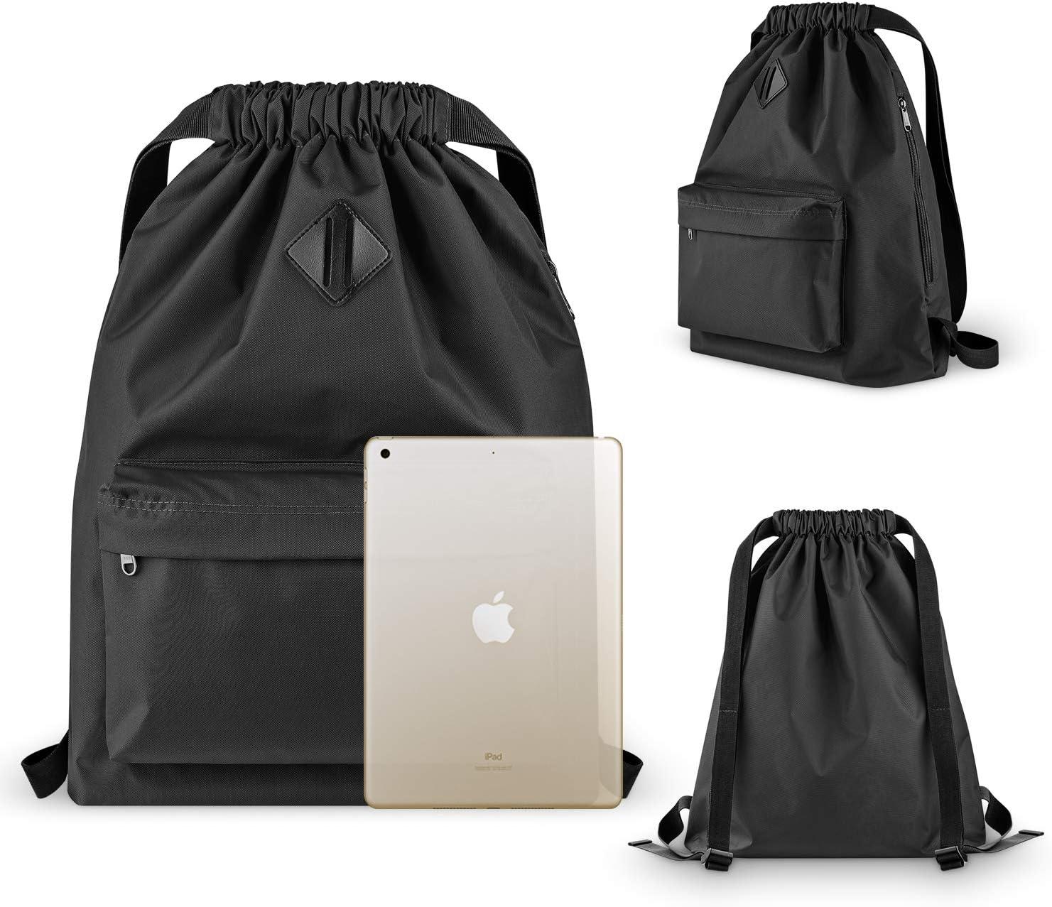 Vorspack Drawstring Backpack Nylon Sports Gym Waterproof String Bag Cinch Sack Gymsack for Men Women