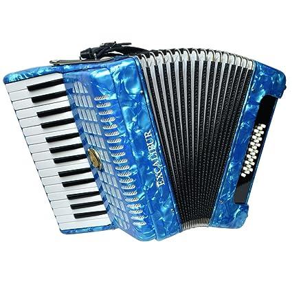 Amazon.com: Excalibur Ginebra 24 Bass Piano Acordeón, color ...