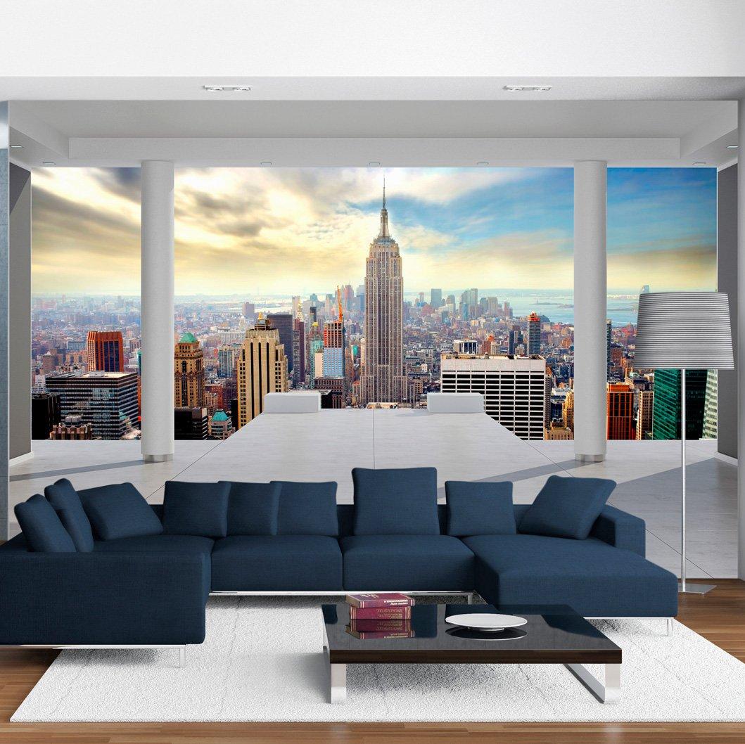 murando - Fotomural 350x256 cm - Papel tejido-no tejido - Papel pintado - ciudad New York Arquitectura 10110904-35: Amazon.es: Hogar
