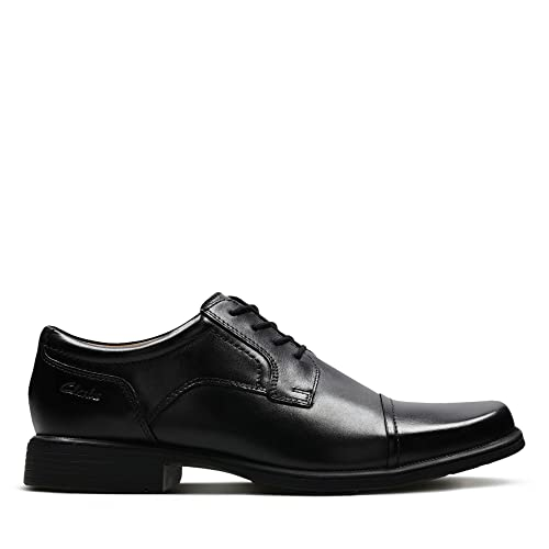 Clarks Banfield Cap - Black Leather 7.5 UK vTwsOE