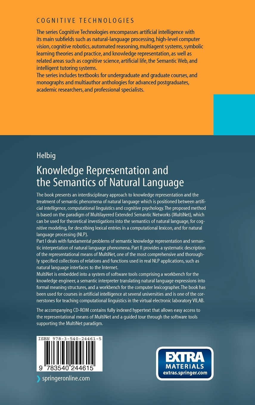 Knowledge Representation and the Semantics of Natural Language (Cognitive Technologies) by Springer