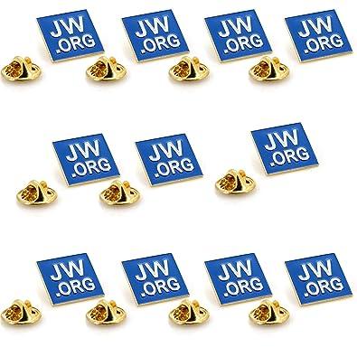 a8efe3495b2b Amazon.com: JW.ORG Square Gold Lapel Pin Jehovah Witness - 1