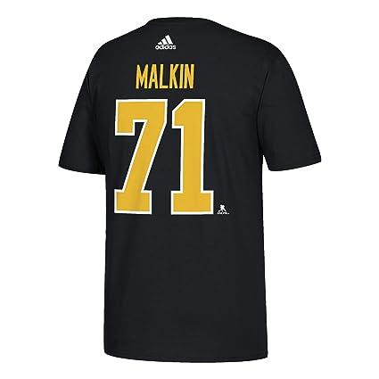 adidas Evgeni Malkin Men s Pittsburgh Penguins Black Player T-Shirt (Small) 60ed37384