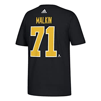 size 40 19d9d fa499 adidas Evgeni Malkin Men's Pittsburgh Penguins Black Player T-Shirt