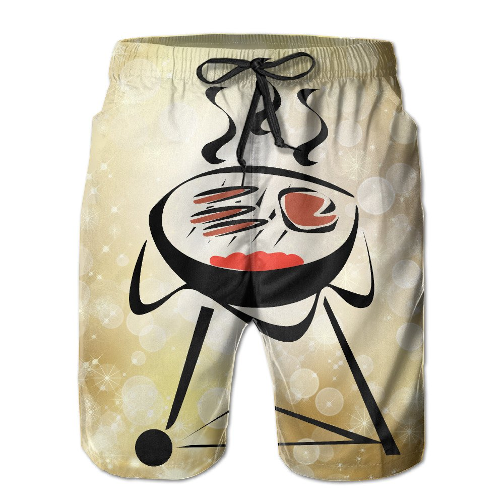 Cool Summer Barbecue Summer Mens Quick-drying Swim Trunks Beach Shorts Medium by WANNATRY