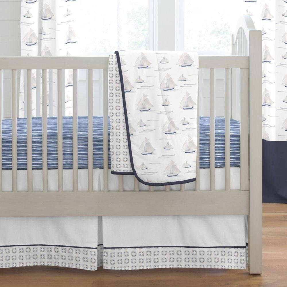 Carousel Designs Blue Ocean Sailboats 3-Piece Crib Bedding Set by Carousel Designs