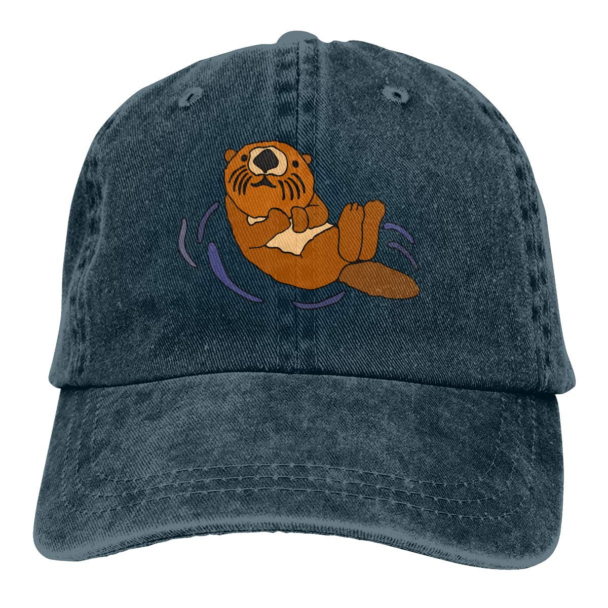 PMGM-C Floating Sea Otter Unisex Trendy Cowboy Outdoor Sports Hat Adjustable Baseball Cap